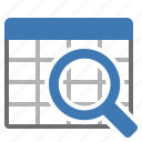 find, glass, look for, magnifying, search, table icon