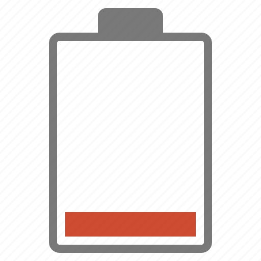 battery, hardware, low, network, percent, red, ten icon
