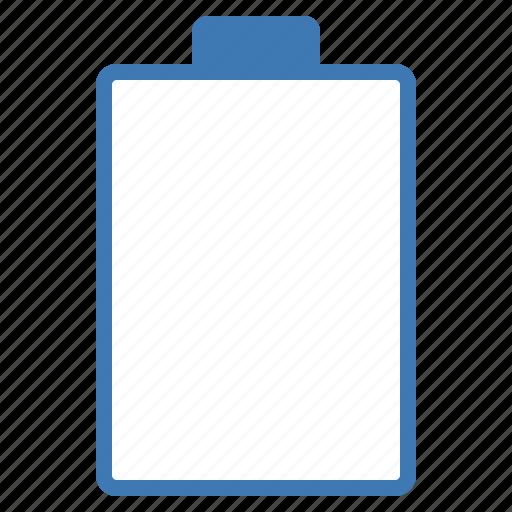 battery, blue, empty, hardware, network icon