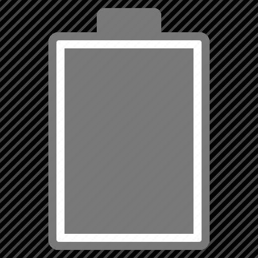 battery, full, grey, hardware, network icon