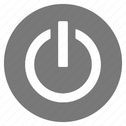 btn, circle, grey, hardware, off, on, switch icon