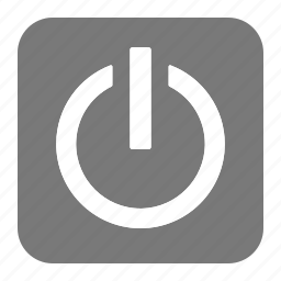 btn, grey, hardware, network, off, on, switch icon