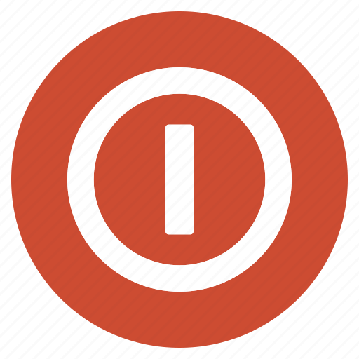 btn, circle, hardware, network, off, on, switch icon