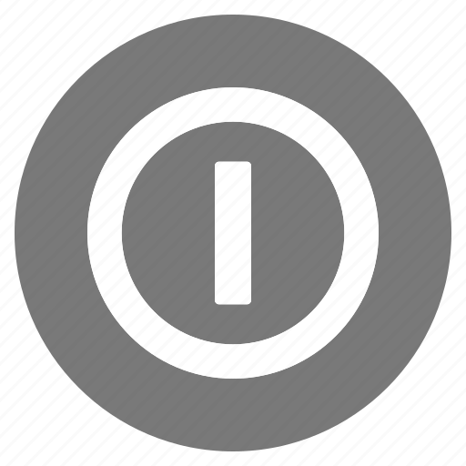 btn, circle, grey, hardware, network, off, on icon