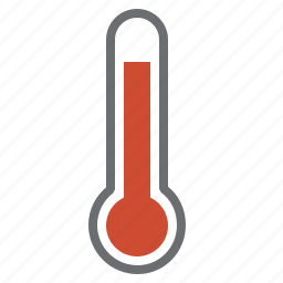 danger, hardware, hot, network, red, temperature, thermometer icon