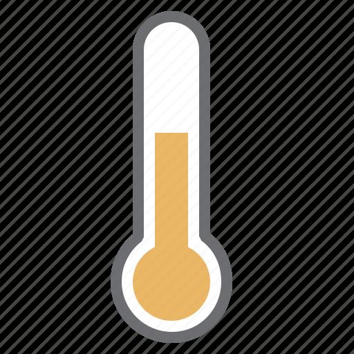 hardware, heat, medium, network, temperature, thermometer, yellow icon