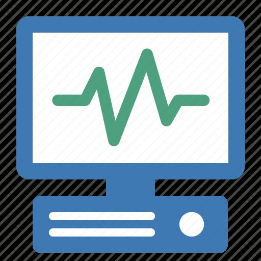 activity, computer, hardware, monitor, network, performances icon