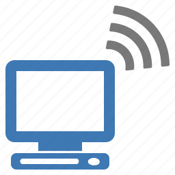 computer, connected, connection, hardware, network, wifi, wireless icon