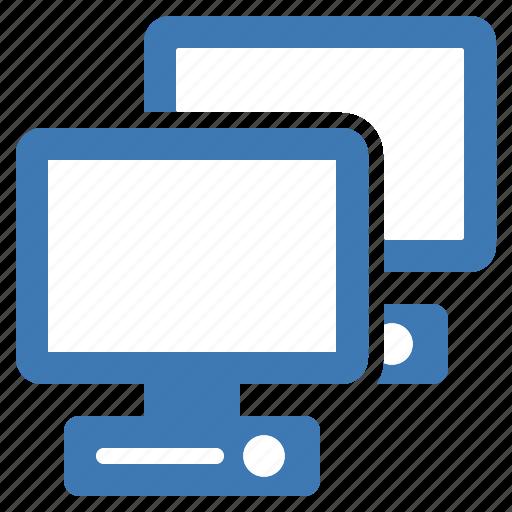 central unity, computers, device, hardware, monitors, network icon