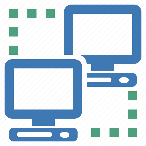 computers, connected, connection, hardware, linked, network icon