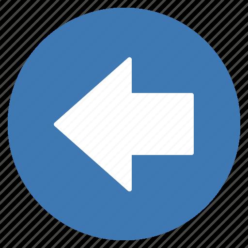arrow, blue, direction, gps, left, location, navigation icon