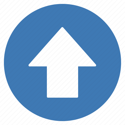 arrow, blue, direction, gps, location, navigation, up icon