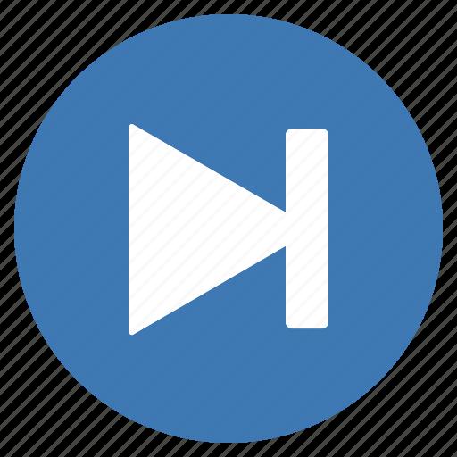 Blue, btn, goto, next, forward icon - Download on Iconfinder