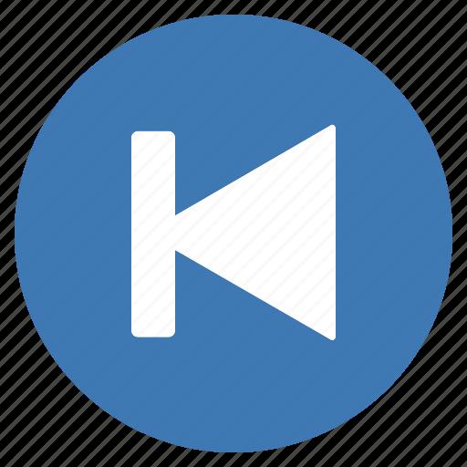 blue, btn, goto, multimedia, previous icon