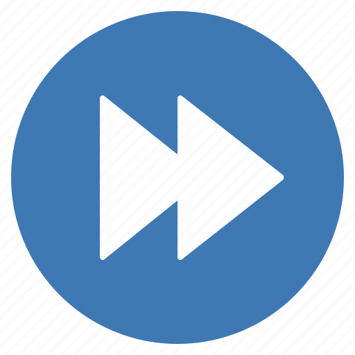 Blue, btn, forward, play, media icon - Download on Iconfinder
