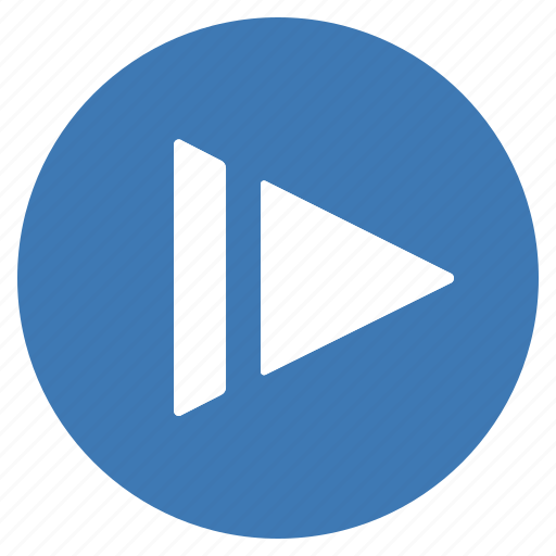 blue, btn, motion, play, slow icon