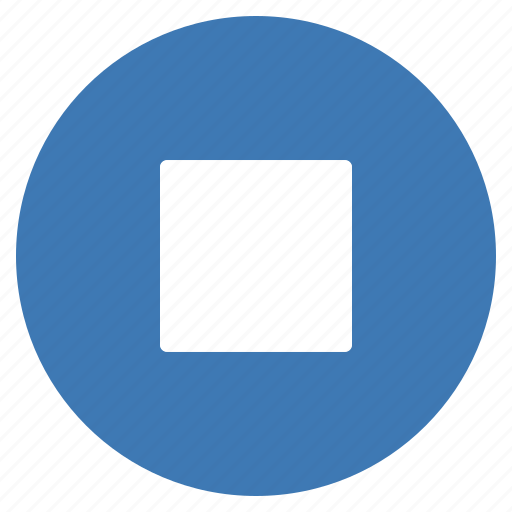 Blue, btn, play, stop, audio, player, multimedia icon - Download on Iconfinder