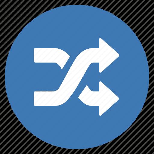 Blue, btn, shuffle, random icon - Download on Iconfinder