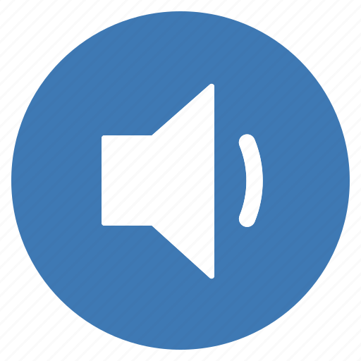 audio, blue, btn, low, sound, speaker, volume icon