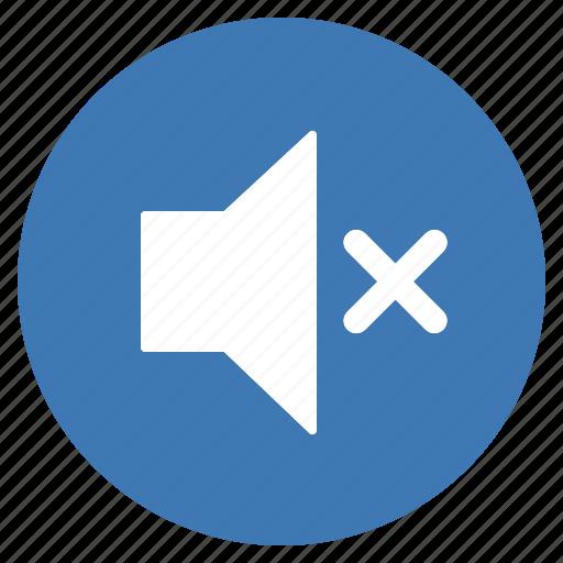 blue, btn, mute, sound, speaker, volume icon