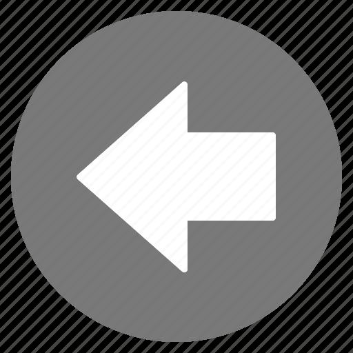 arrow, direction, gps, grey, left, location, navigation icon