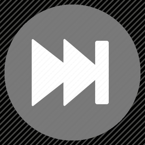 Btn, goto, grey, last icon - Download on Iconfinder