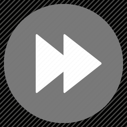 btn, forward, grey, media, play icon