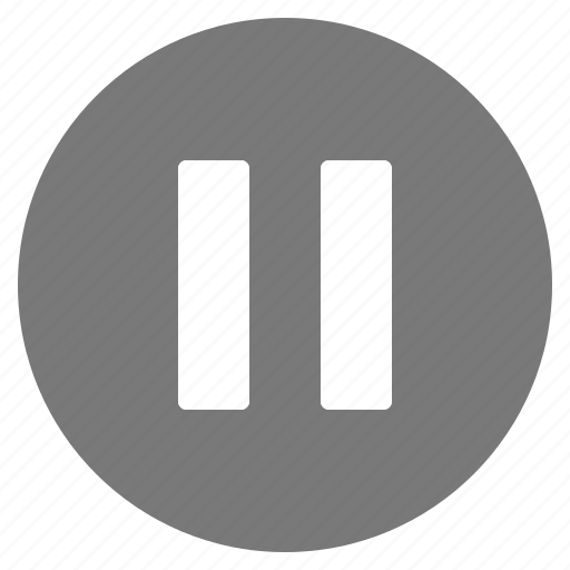 btn, grey, multimedia, pause, play icon
