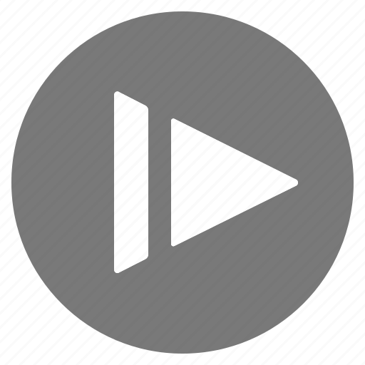 grey, motion, multimedia, music, play, slow, video icon