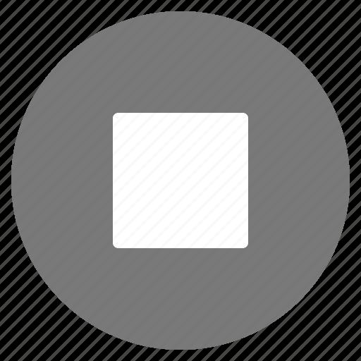 btn, grey, media, play, stop icon
