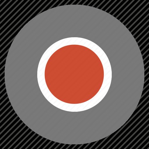 btn, grey, media, record, video icon