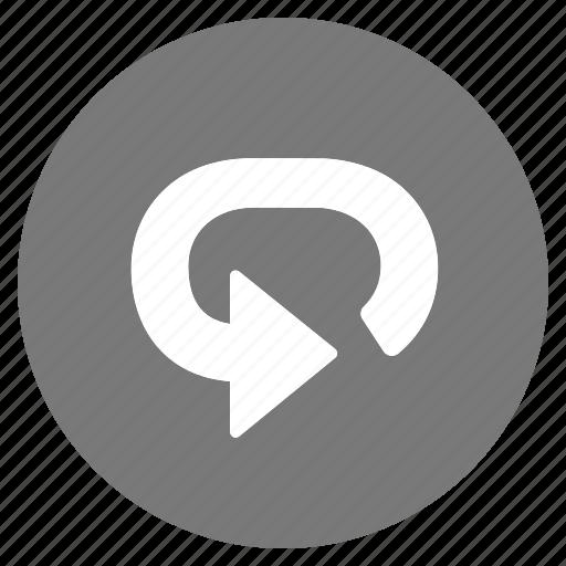 btn, grey, reload, repeat icon