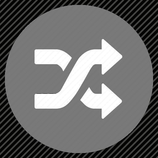 btn, grey, random, shuffle icon