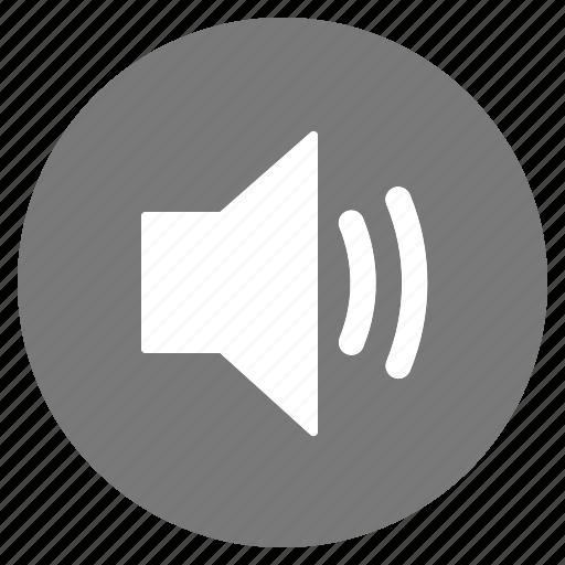 audio, btn, grey, high, sound, speaker, volume icon