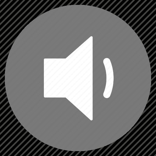 audio, btn, grey, low, sound, speaker, volume icon