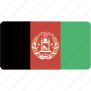 afghanistan, country, flag, flags, national, rectangle, rectangular, world icon