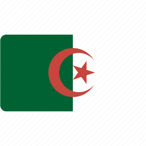 algeria, country, flag, flags, national, rectangle, rectangular, world icon