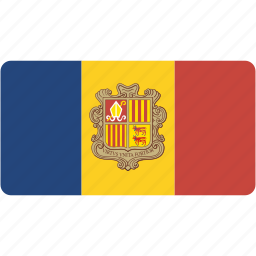 andorra, country, flag, flags, national, rectangle, rectangular, world icon
