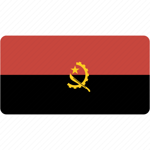 angola, country, flag, flags, national, rectangle, rectangular, world icon