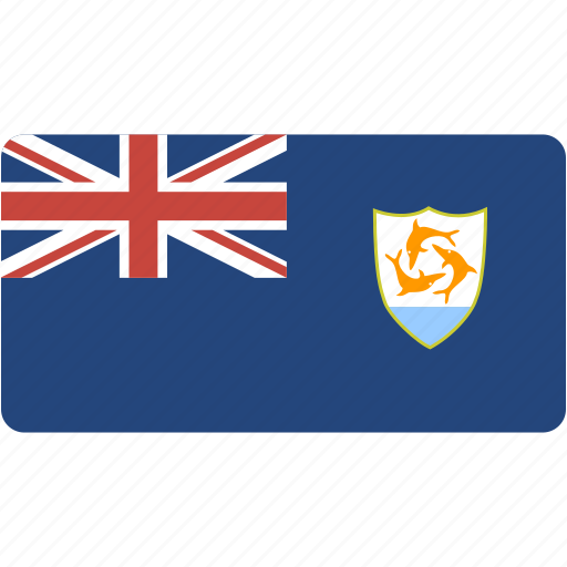 anguilla, country, flag, flags, national, rectangle, rectangular, world icon