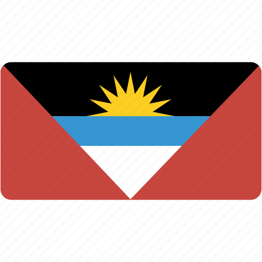 and, antigua, barbuda, country, flag, flags, national, rectangle, rectangular, world icon