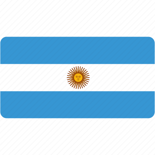 argentina, country, flag, flags, national, rectangle, rectangular, world icon
