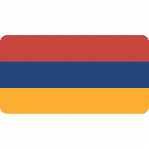 armenia, country, flag, flags, national, rectangle, rectangular, world icon