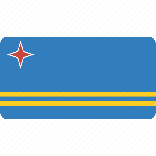aruba, flag, flags, national, rectangle, rectangular, world icon
