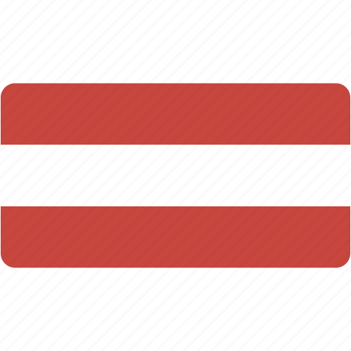 austria, country, flag, flags, national, rectangle, rectangular, world icon