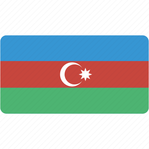 azerbaijan, country, flag, flags, national, rectangular, world icon