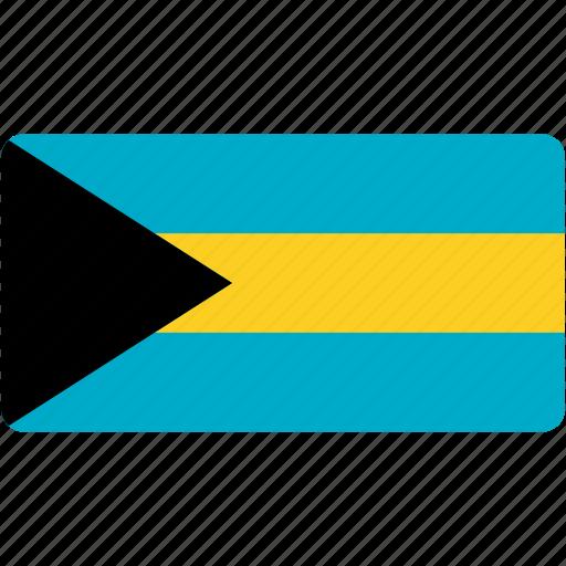bahamas, country, flag, flags, national, rectangle, rectangular, world icon