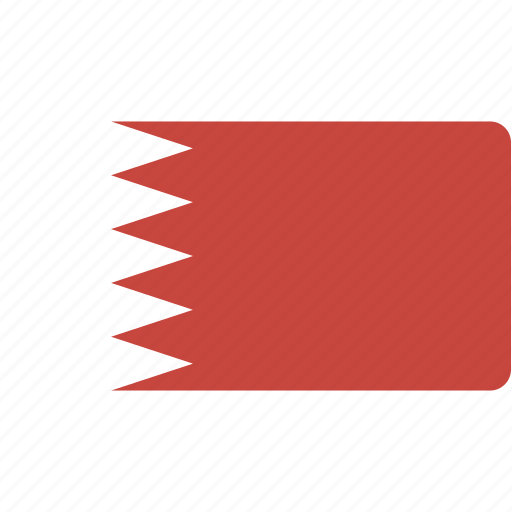 bahrain, country, flag, flags, national, rectangle, rectangular, world icon