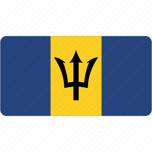 barbados, country, flag, flags, national, rectangle, rectangular, world icon