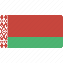 belarus, country, flag, flags, national, rectangle, rectangular, world icon